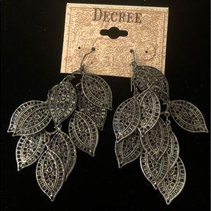 Silver Wire Drop Earrings